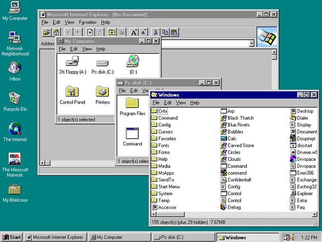 Windows のそれらの日々 を思い出す 95, お使いのブラウザーから, オンラインこのエミュレーターのおかげで - イメージ 2 - 教授-falken.com