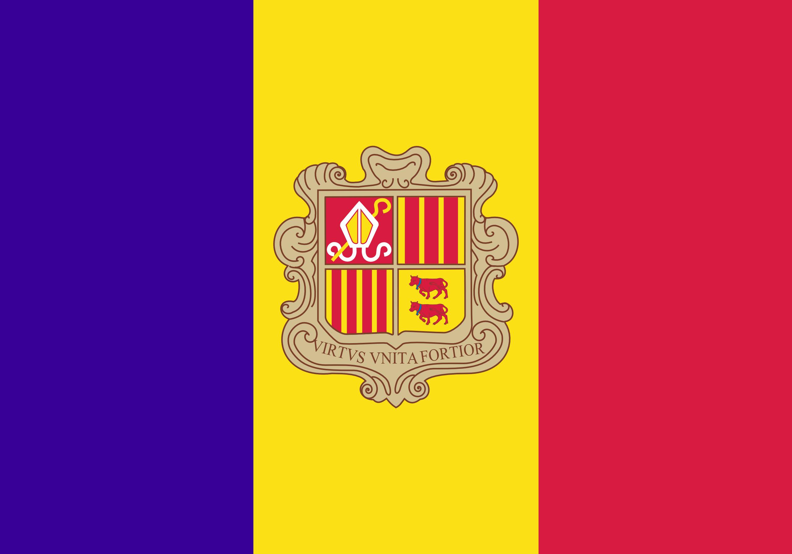 Andorra, país, Brasão de armas, logotipo, símbolo - Papéis de parede HD - Professor-falken.com