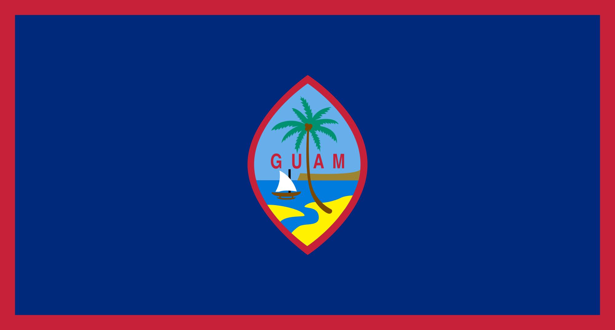Guam, país, Brasão de armas, logotipo, símbolo - Papéis de parede HD - Professor-falken.com