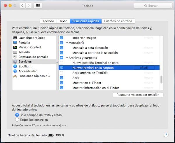 Cómo abrir una ventana de Terminal desde cualquier carpeta del Entorno Gráfico de tu Mac - Image 2 - professor-falken.com