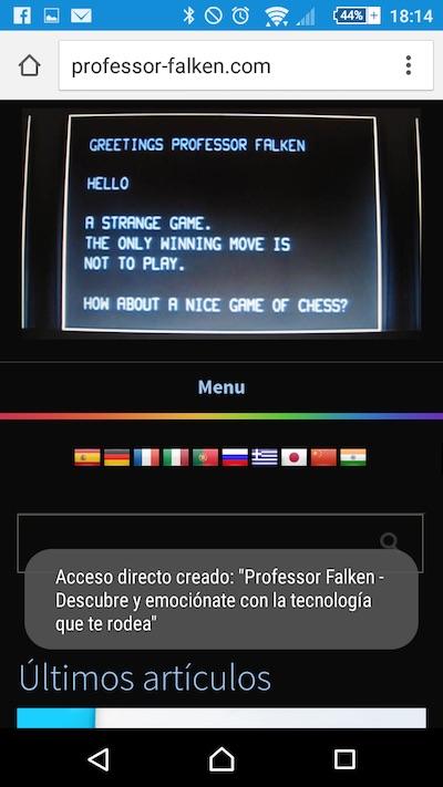 Cómo añadir una web a la Pantalla de Inicio de tu teléfono Android desde Chrome - Image 3 - professor-falken.com