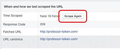 Πώς να καθαρίσει ή να ενημερώσετε το χώρο προσωρινής αποθήκευσης από μια διεύθυνση URL που έχετε κοινοποιήσει στο Facebook - Εικόνα 3 - Professor-falken.com
