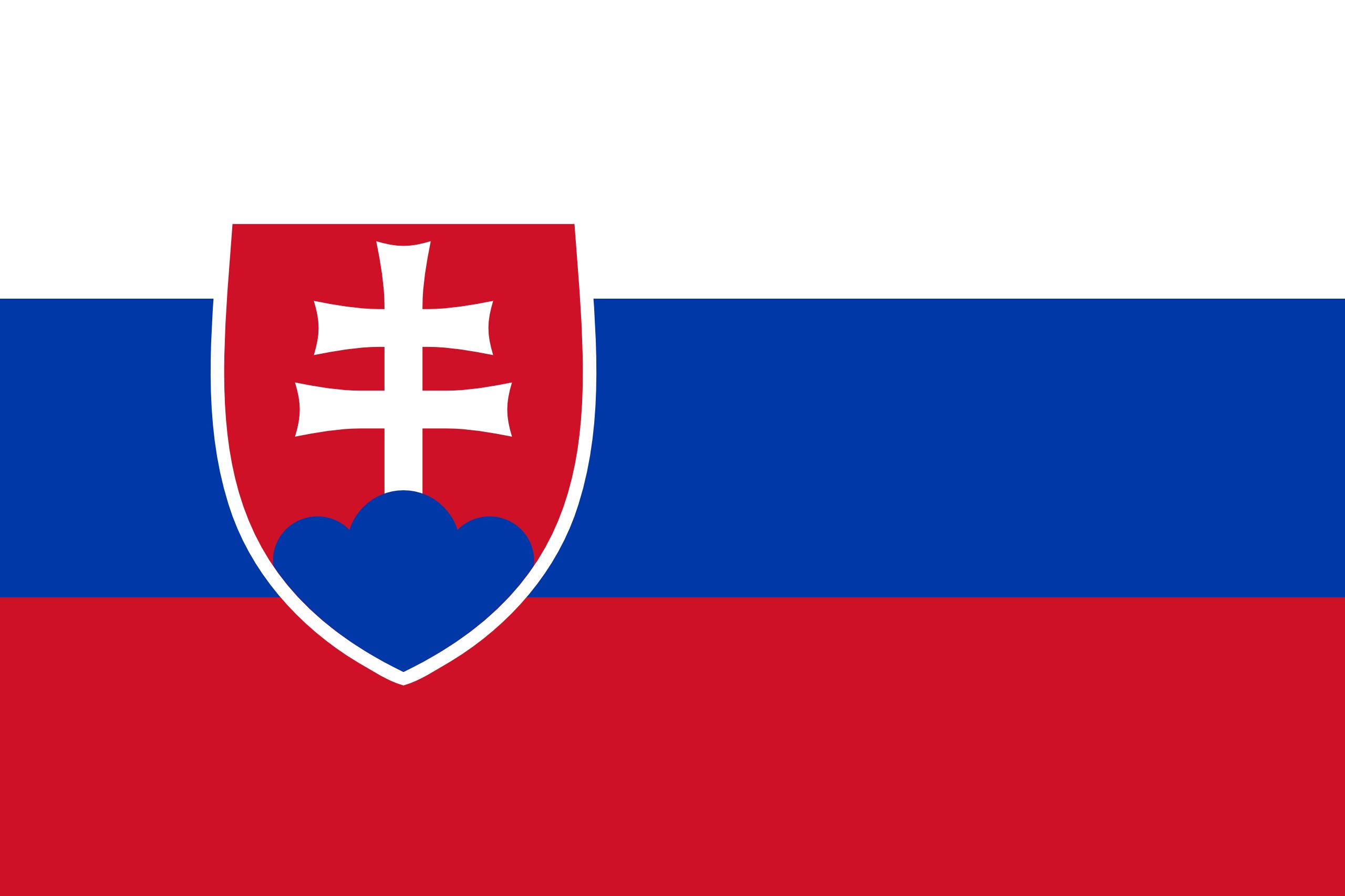 Eslováquia, país, Brasão de armas, logotipo, símbolo - Papéis de parede HD - Professor-falken.com