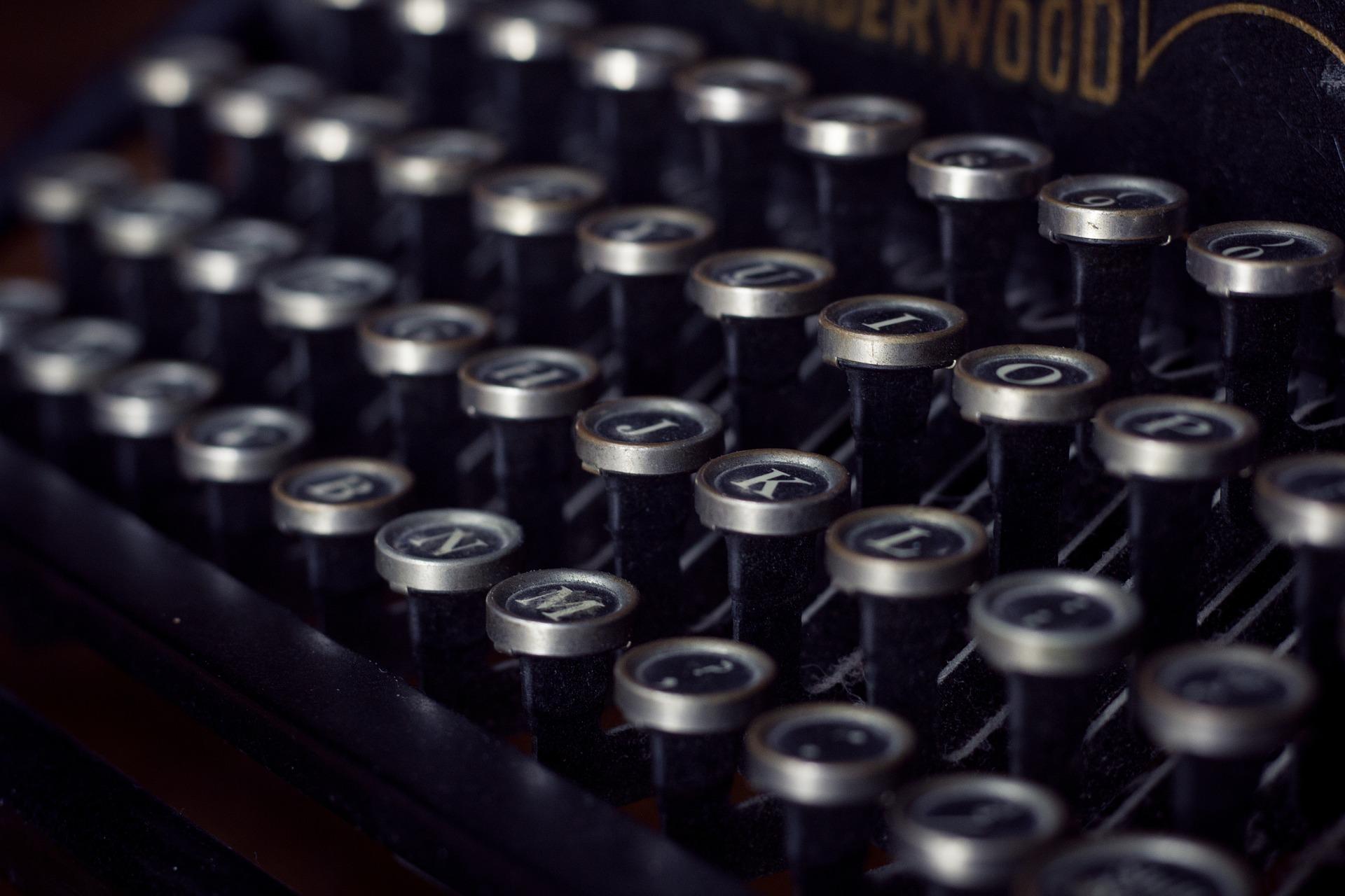máquina de escribir, vintage, antiguo, teclas - Fondos de Pantalla HD - professor-falken.com