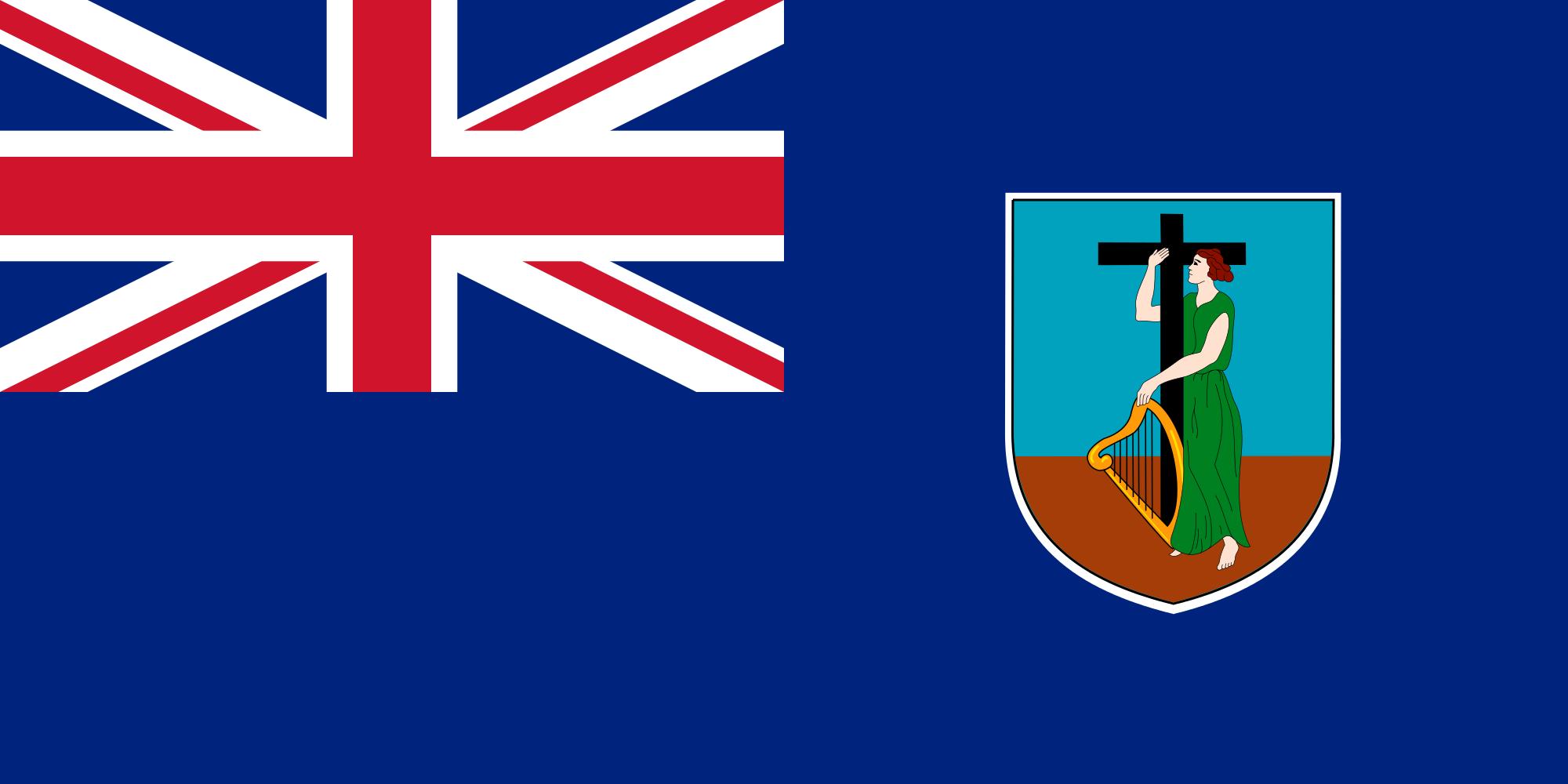 Montserrat, país, Brasão de armas, logotipo, símbolo - Papéis de parede HD - Professor-falken.com
