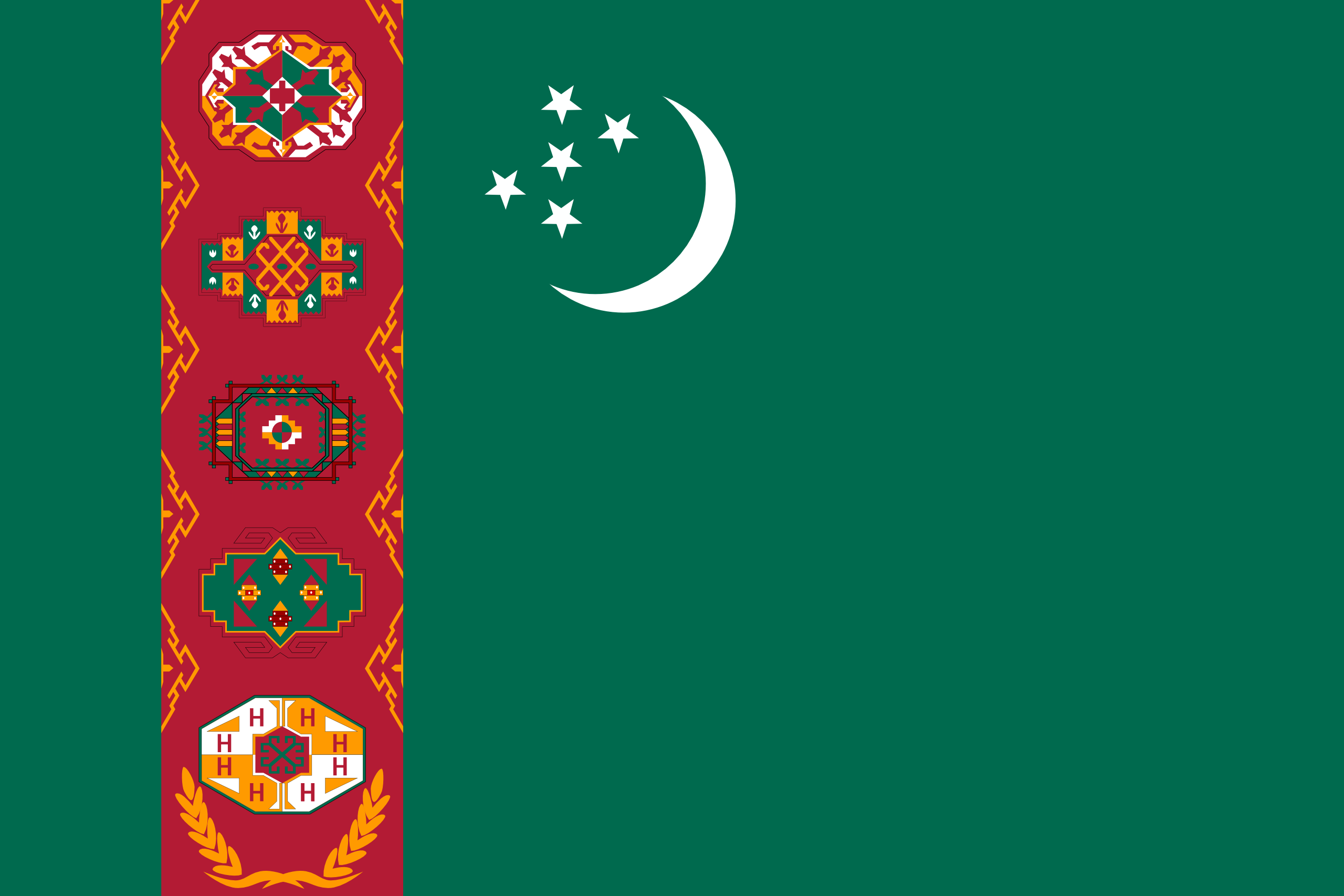 turkmenistán, страна, Эмблема, логотип, символ - Обои HD - Профессор falken.com