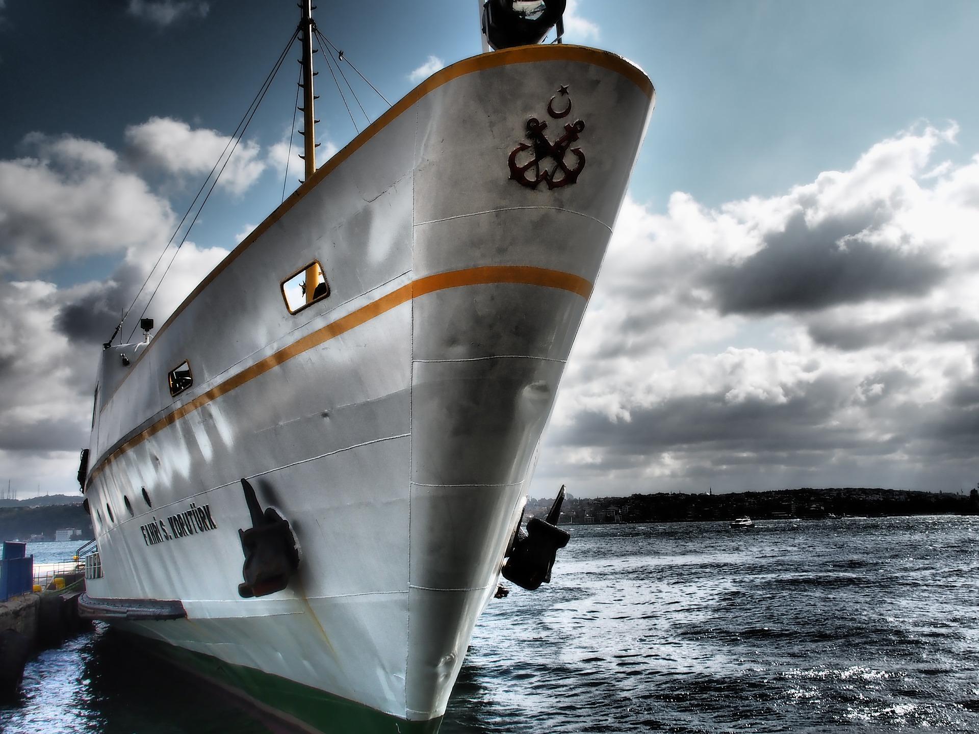 лодка, корабль, Паром, Море, якорь, Небо, облака - Обои HD - Профессор falken.com