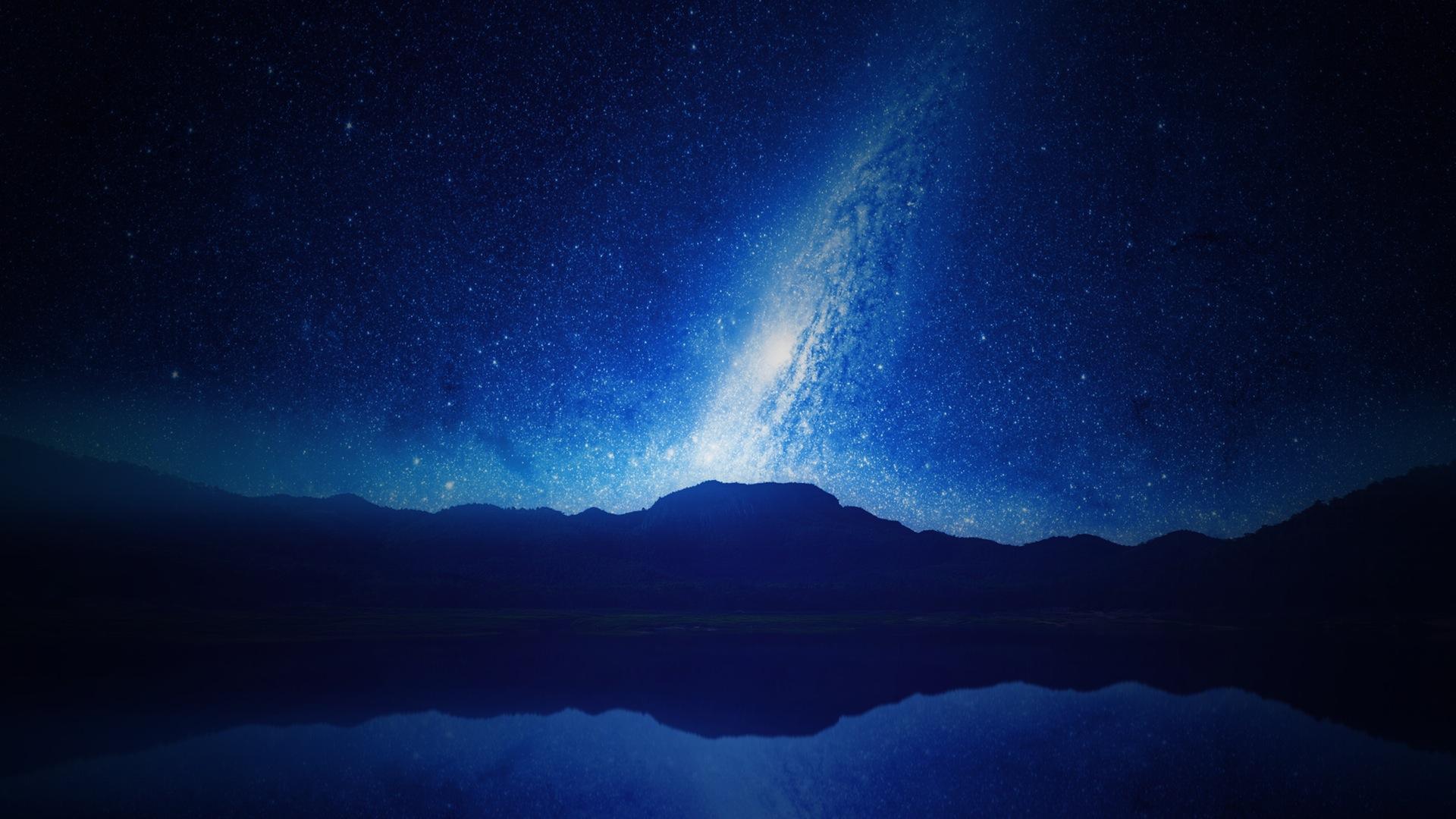 天空, 晚上, 星级, 山脉, 苍穹, galaxia, 银河 - 高清壁纸 - 教授-falken.com