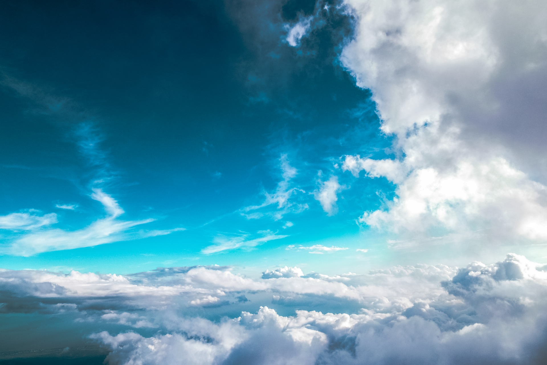 Небо, Муха, облака, Синий, расслабиться, мир, спокойствие - Обои HD - Профессор falken.com