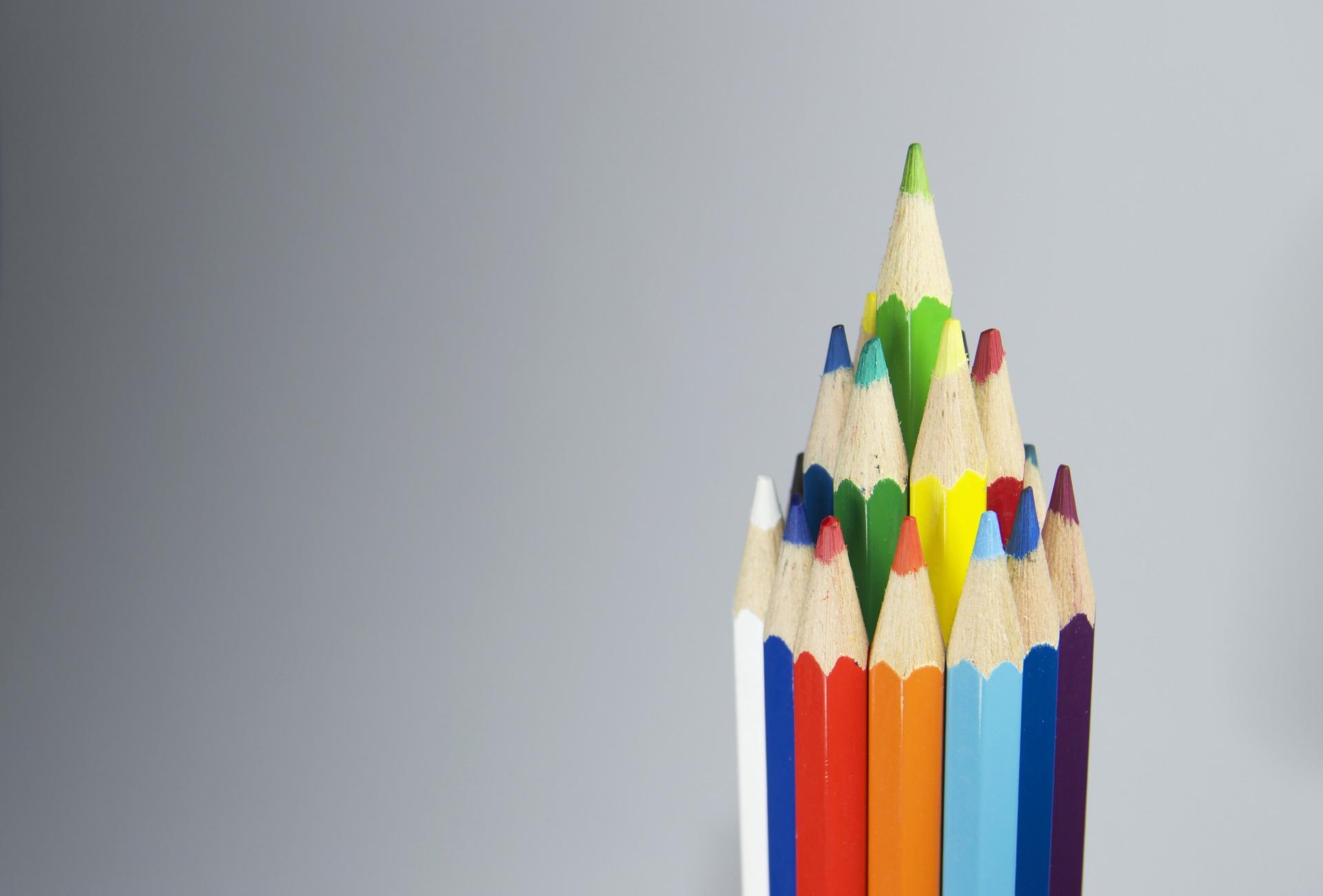 铅笔, 木材, 颜色, 金字塔, 尖点 - 高清壁纸 - 教授-falken.com