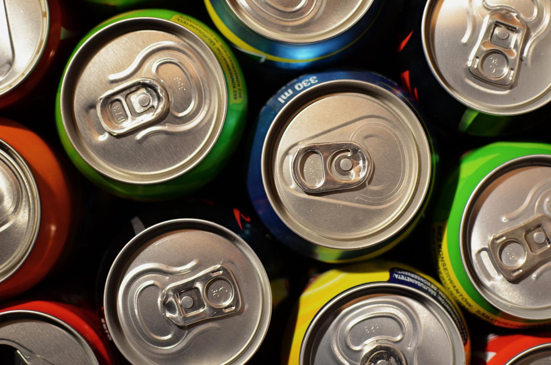 boîtes de conserve, boissons non alcoolisées, boissons, anneaux, couleurs, supermarché, Boutique - Fonds d'écran HD - Professor-falken.com