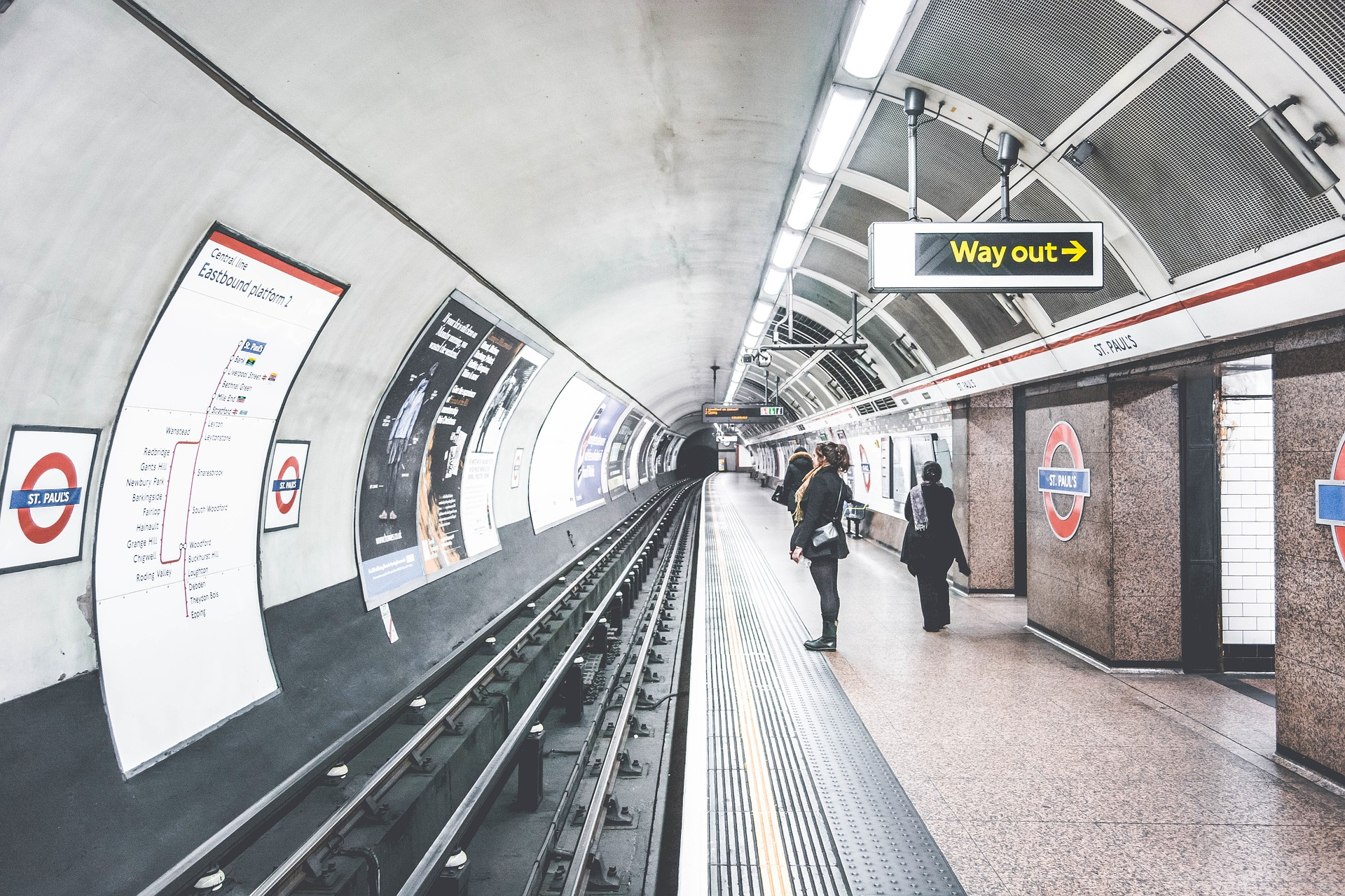 Metropolitana, Londra, Stazione, Inghilterra, Anden, in attesa per voi - Sfondi HD - Professor-falken.com