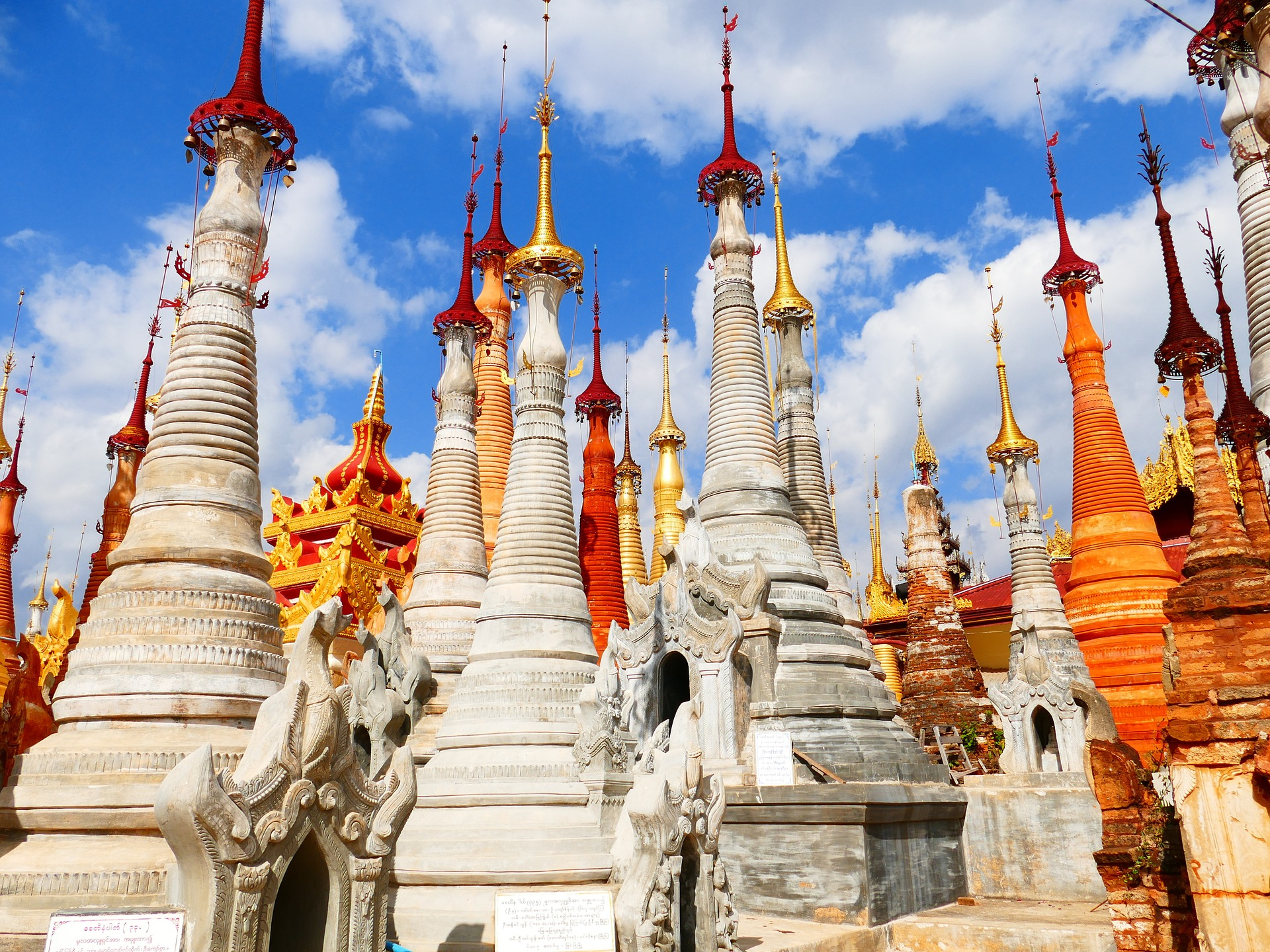 Храм, Мьянма, Бирма, Пагода, Ступа - Обои HD - Профессор falken.com