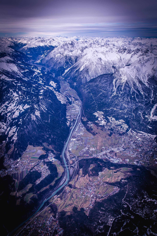 鸟瞰图, 山脉, 比萨饼, 雪, 天空 - 高清壁纸 - 教授-falken.com