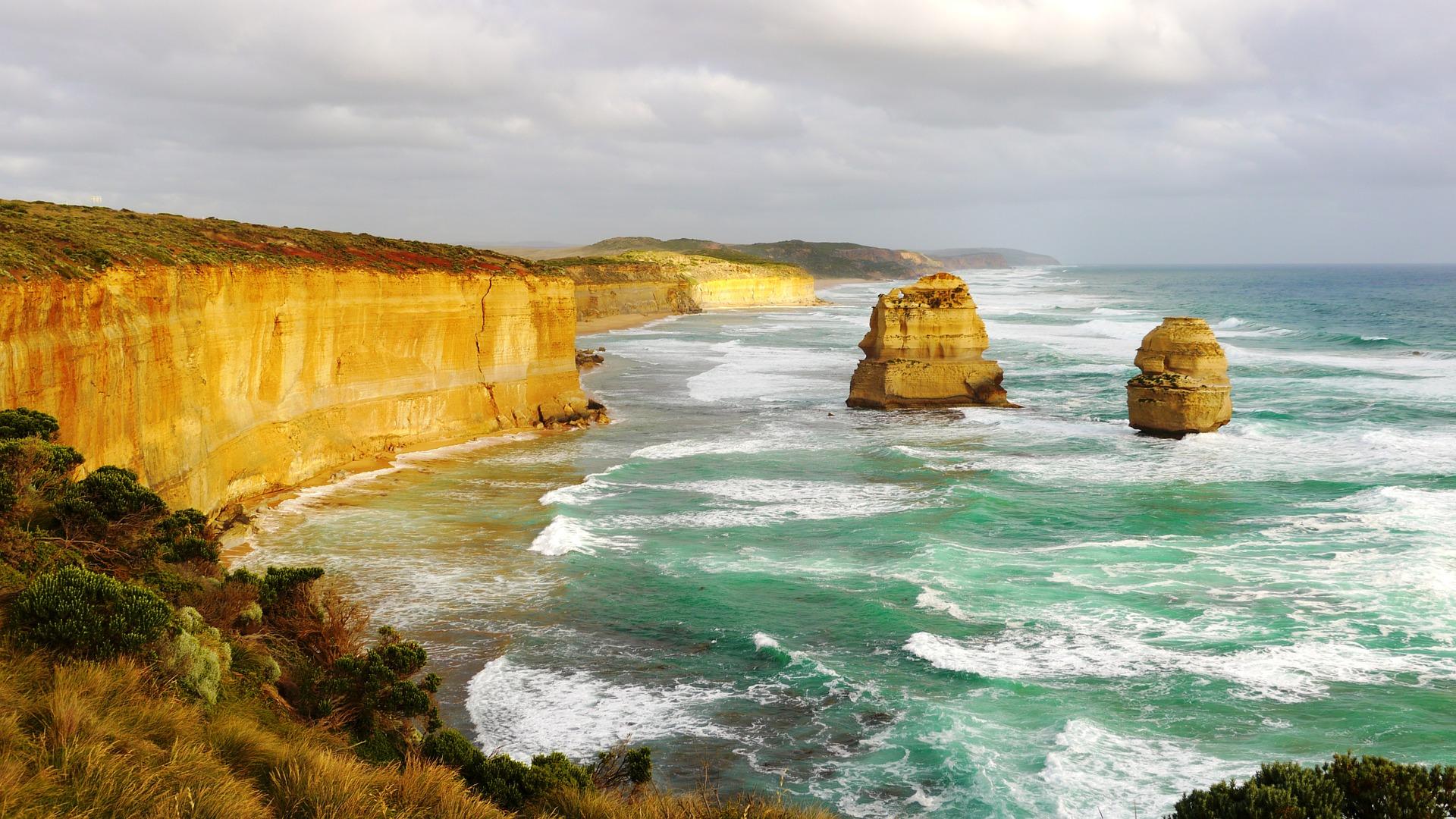 Γκρεμό, Κόστα, Παραλία, κύμα, Μελβούρνη - Wallpapers HD - Professor-falken.com