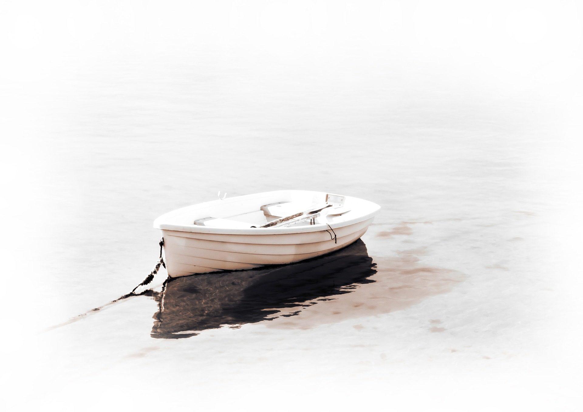 小船, 巴萨, 湖, 反思, 白色 - 高清壁纸 - 教授-falken.com