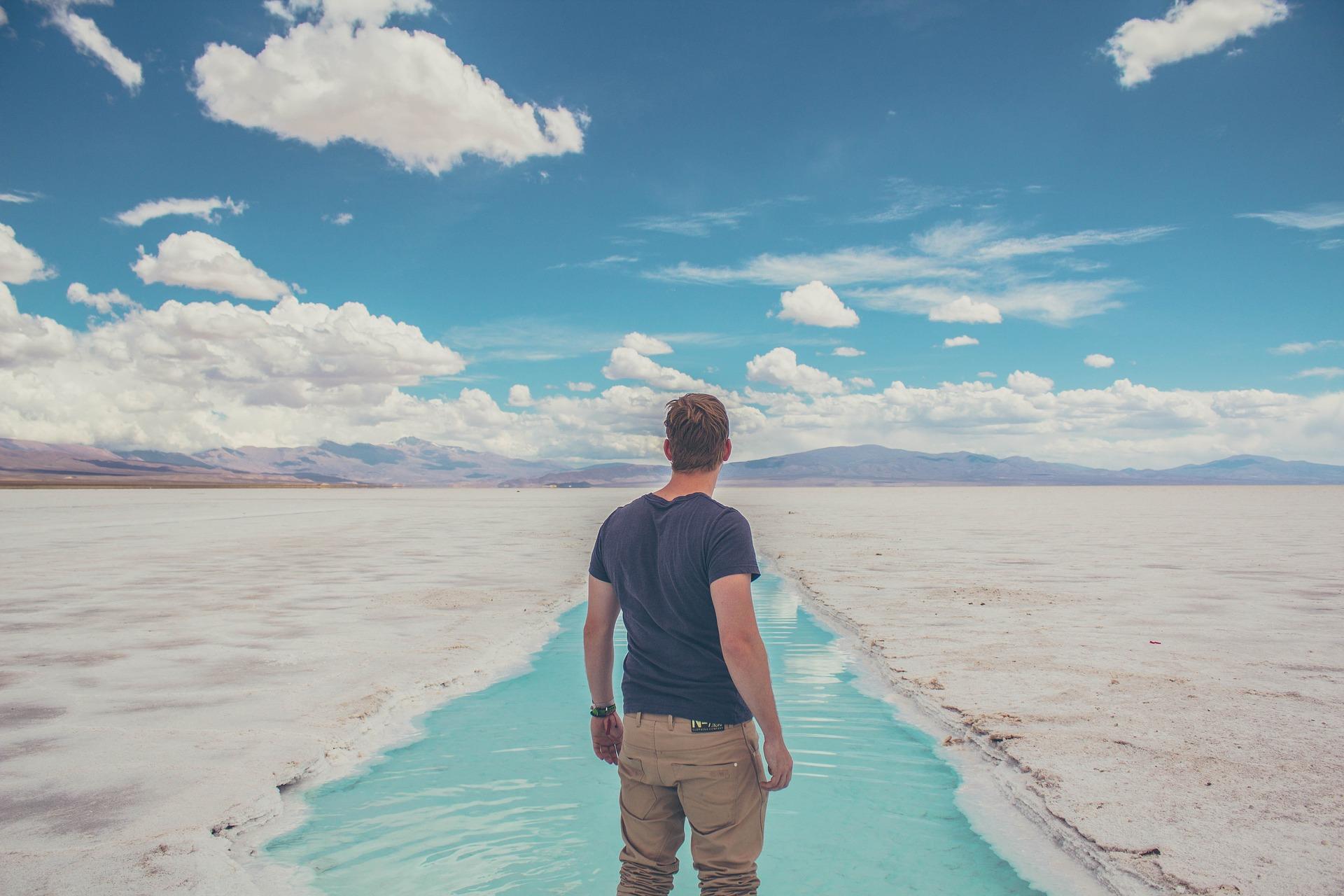 deserto, Salinas, homem, nuvens, Céu - Papéis de parede HD - Professor-falken.com