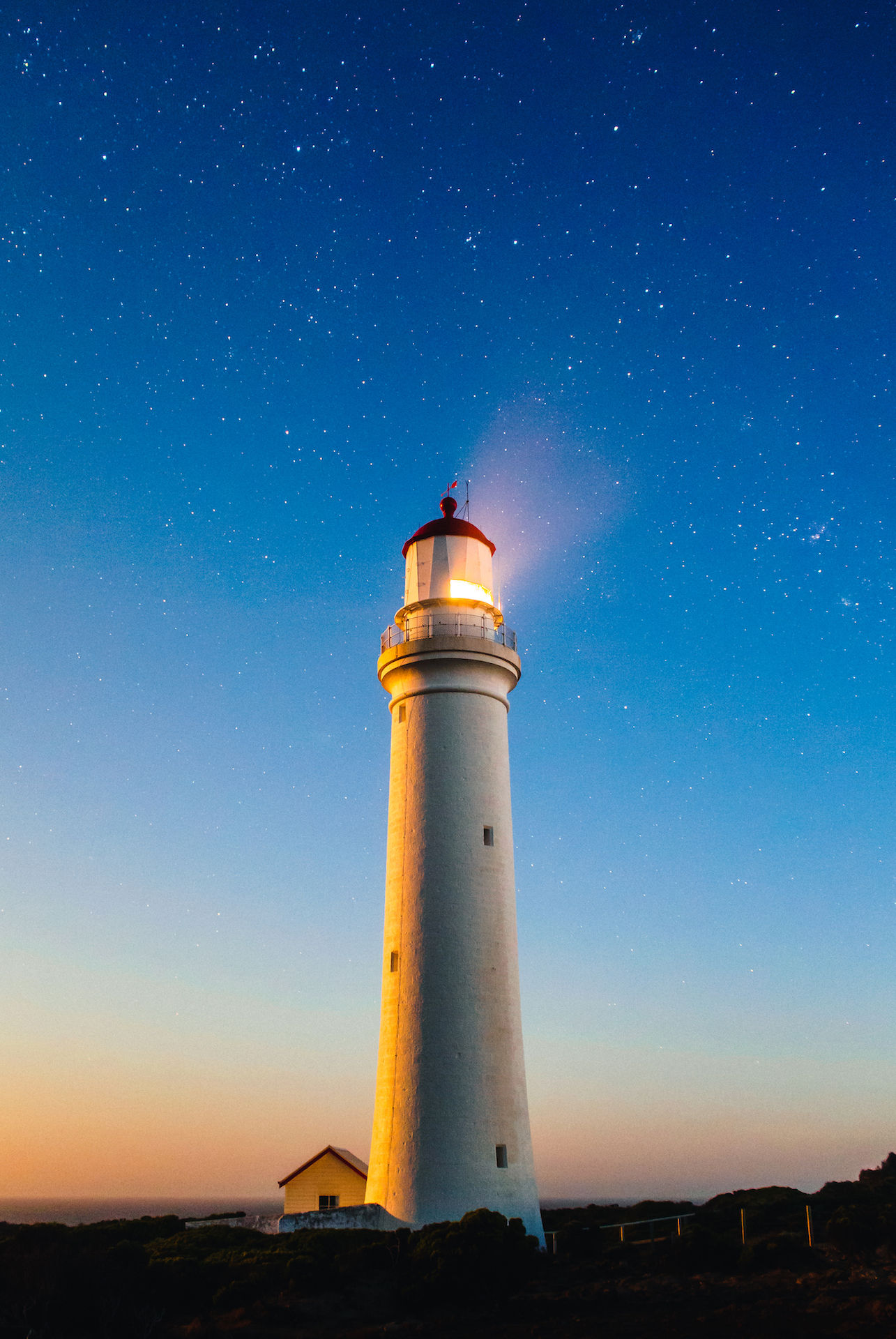灯台, 空, 夜, つ星, 光 - HD の壁紙 - 教授-falken.com