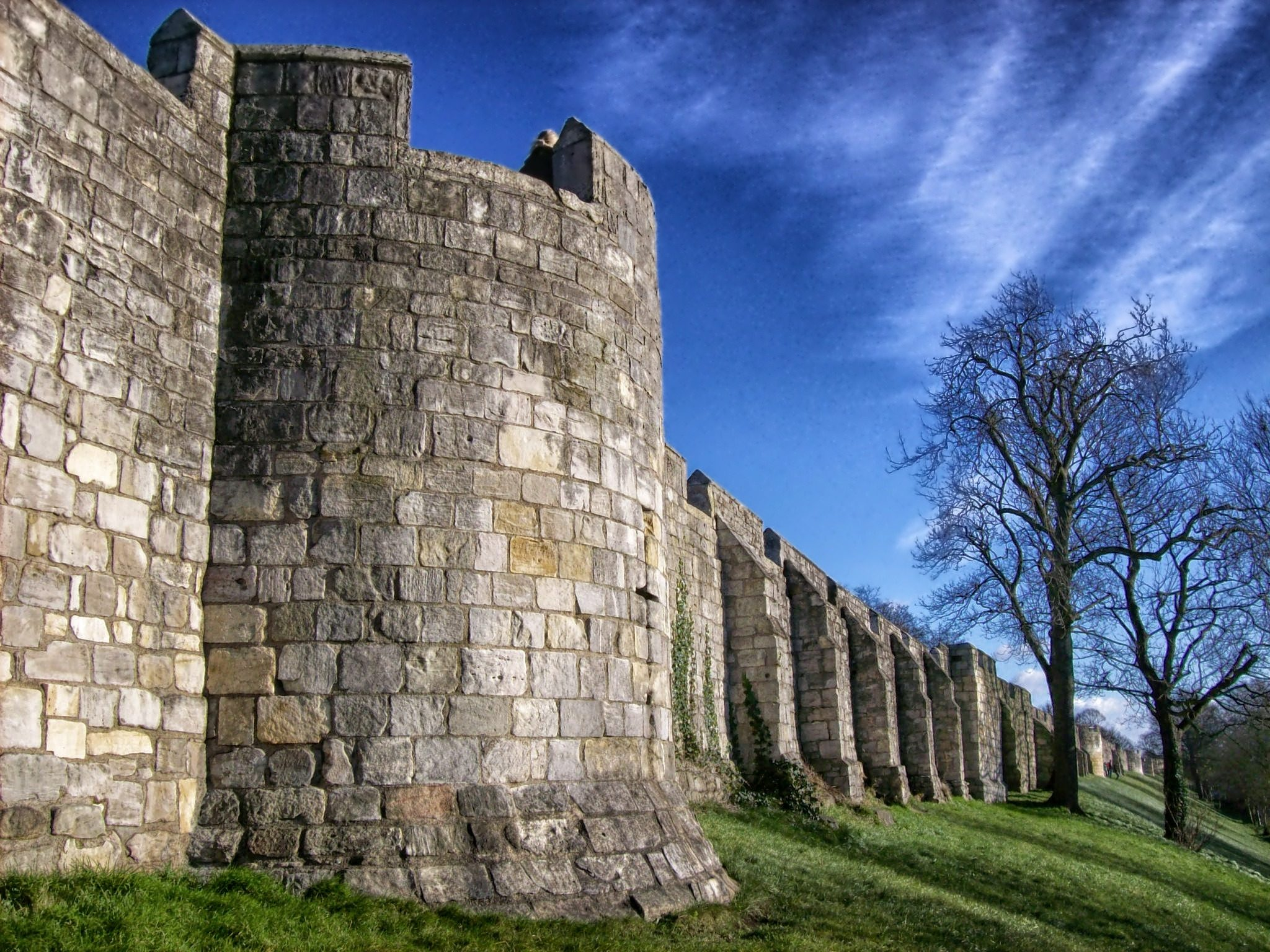 Parede, Cidade, Fortaleza, York, Inglaterra - Papéis de parede HD - Professor-falken.com