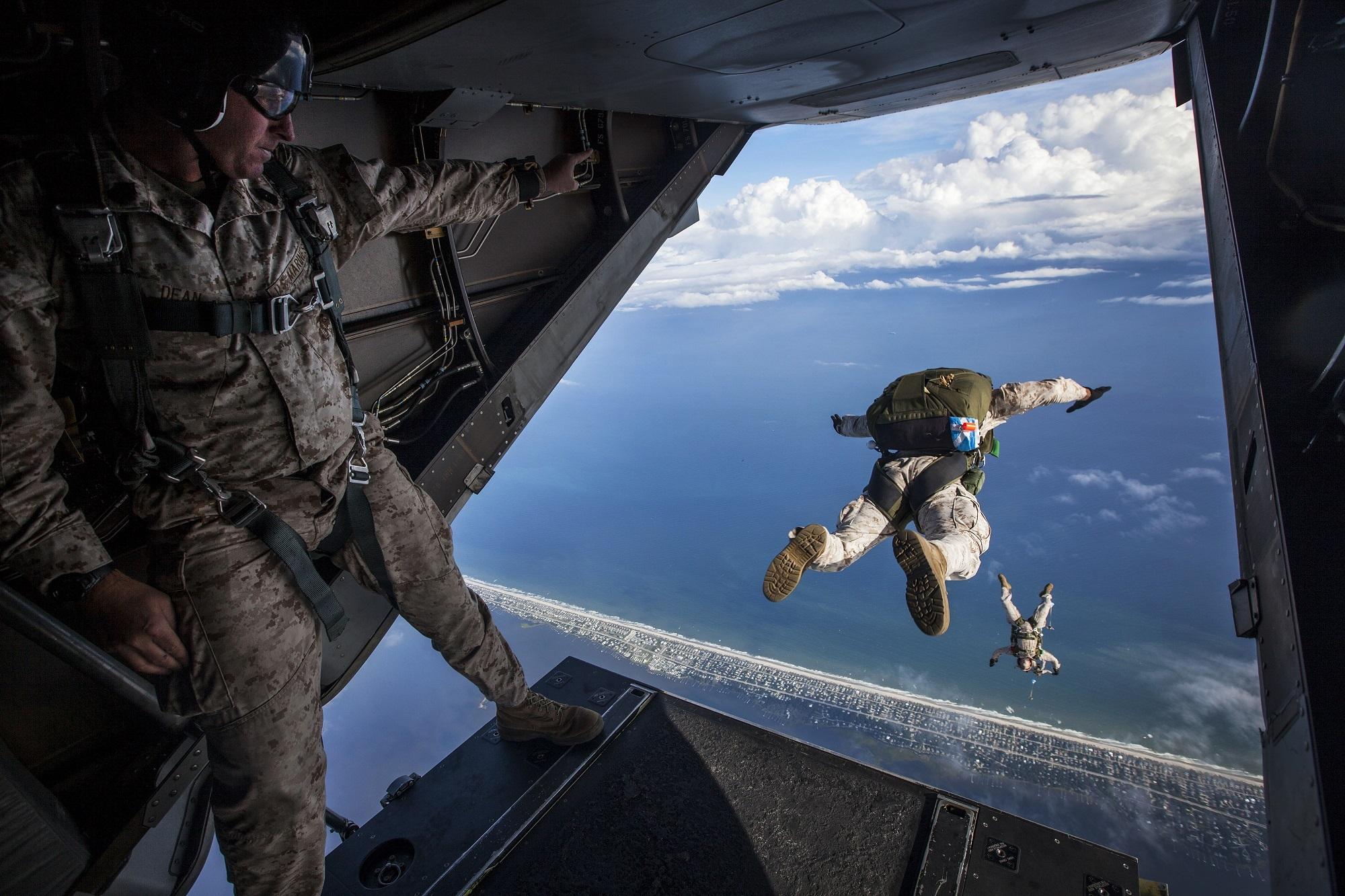 降落伞, 跳转, 军队, 空气, 风险 - 高清壁纸 - 教授-falken.com