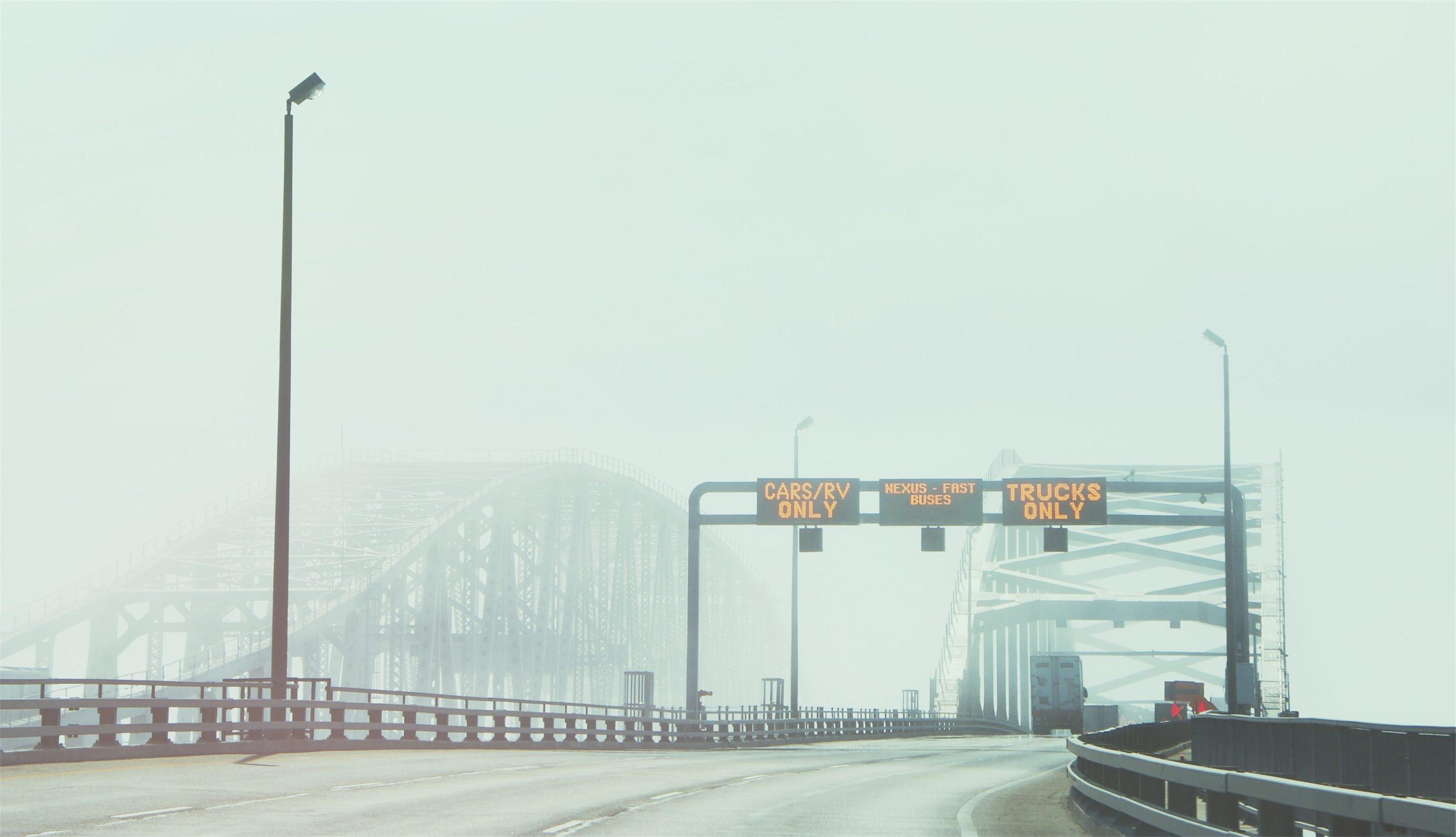 ブリッジ, 信号, 霧, 道路, ライト - HD の壁紙 - 教授-falken.com