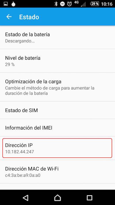Como saber o endereço ou endereços IP que está usando seu dispositivo Android - Imagem 3 - Professor-falken.com