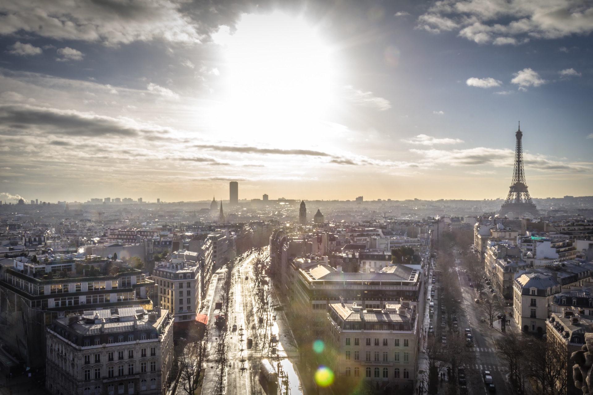 Parigi, Francia, Torre, Eiffel, Sole - Sfondi HD - Professor-falken.com