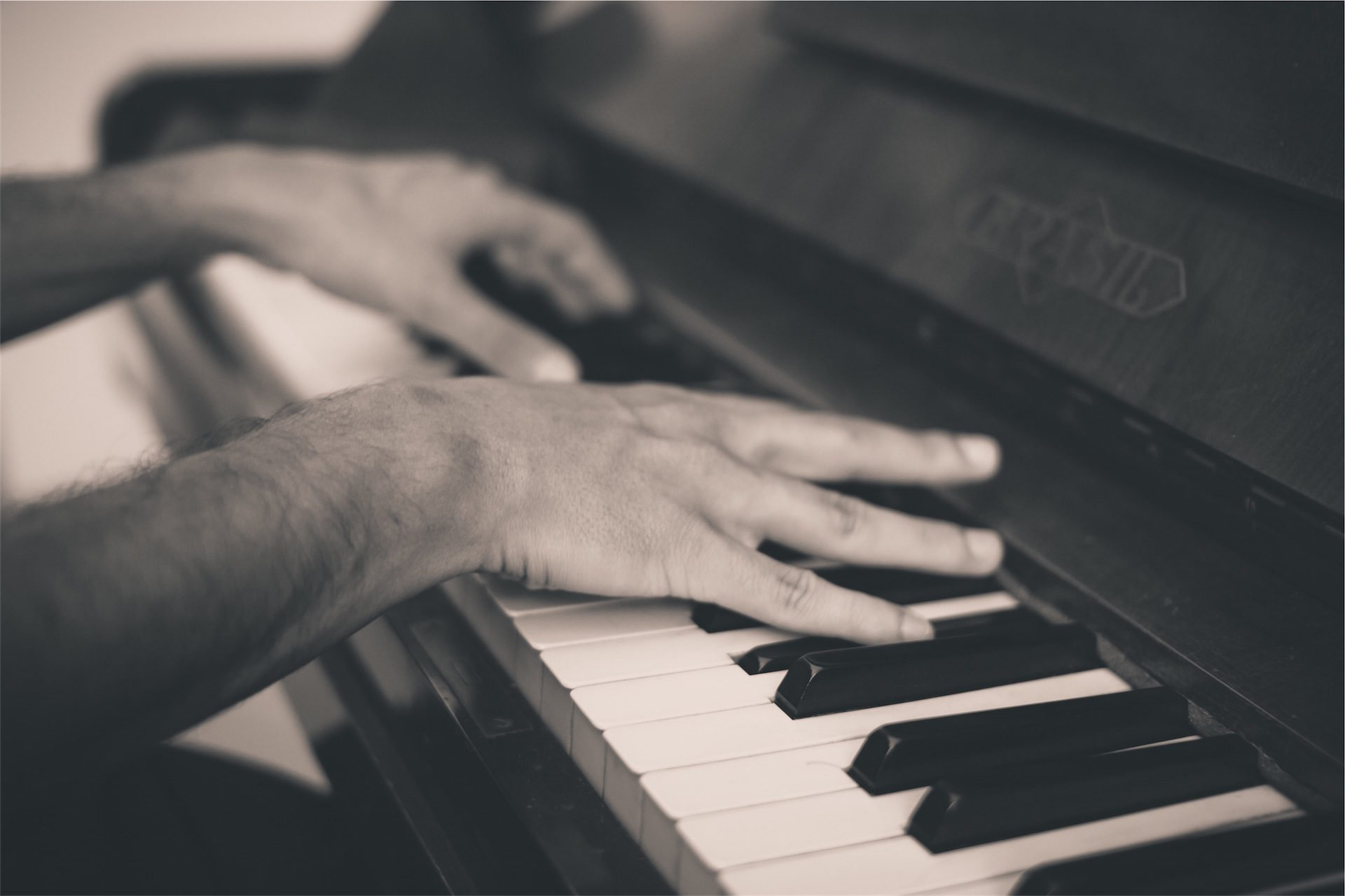 钢琴, 手, 男子, 钥匙, 在黑色和白色 - 高清壁纸 - 教授-falken.com