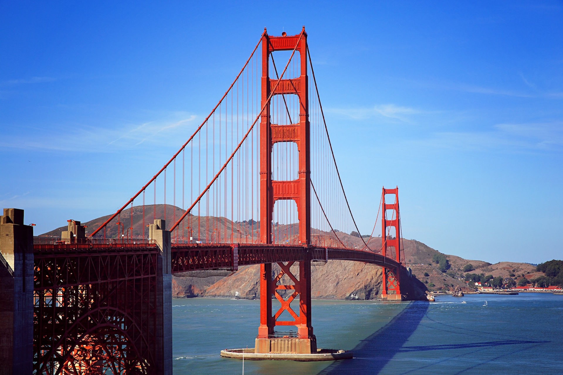 पुल, san francisco, आकाश, Montañas, संयुक्त राज्य अमेरिका - HD वॉलपेपर - प्रोफेसर-falken.com