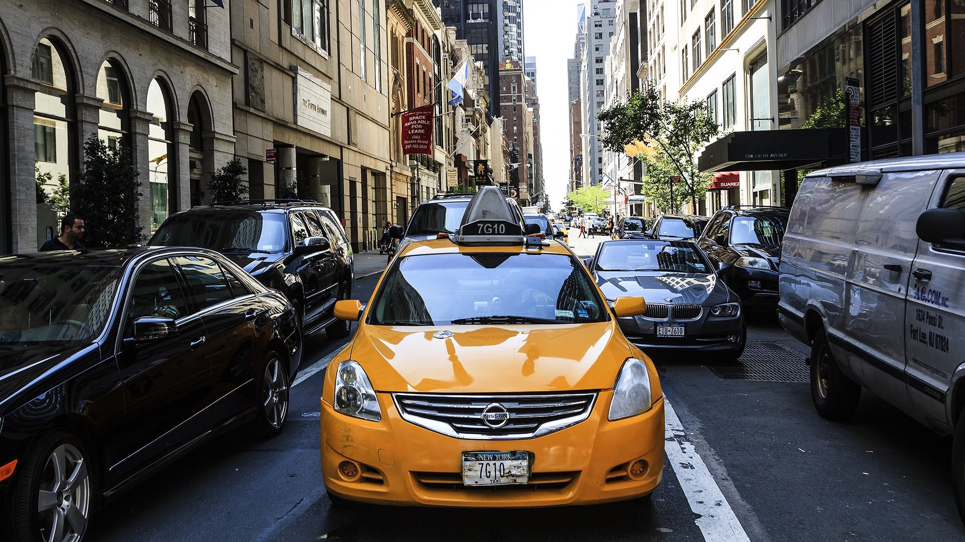 Taxi, New york, Stadt, Apple, América - Wallpaper HD - Prof.-falken.com