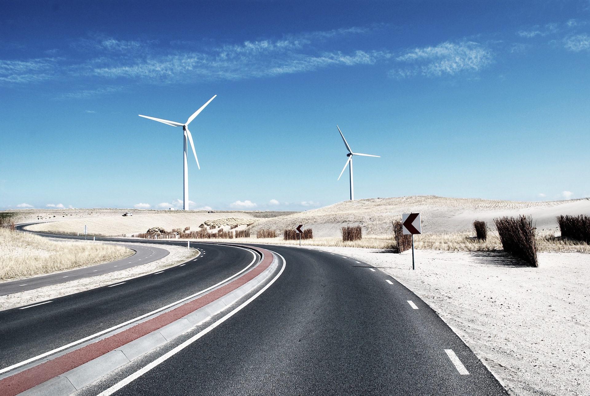 道路, 米尔斯, 风, 风电场, 天空 - 高清壁纸 - 教授-falken.com