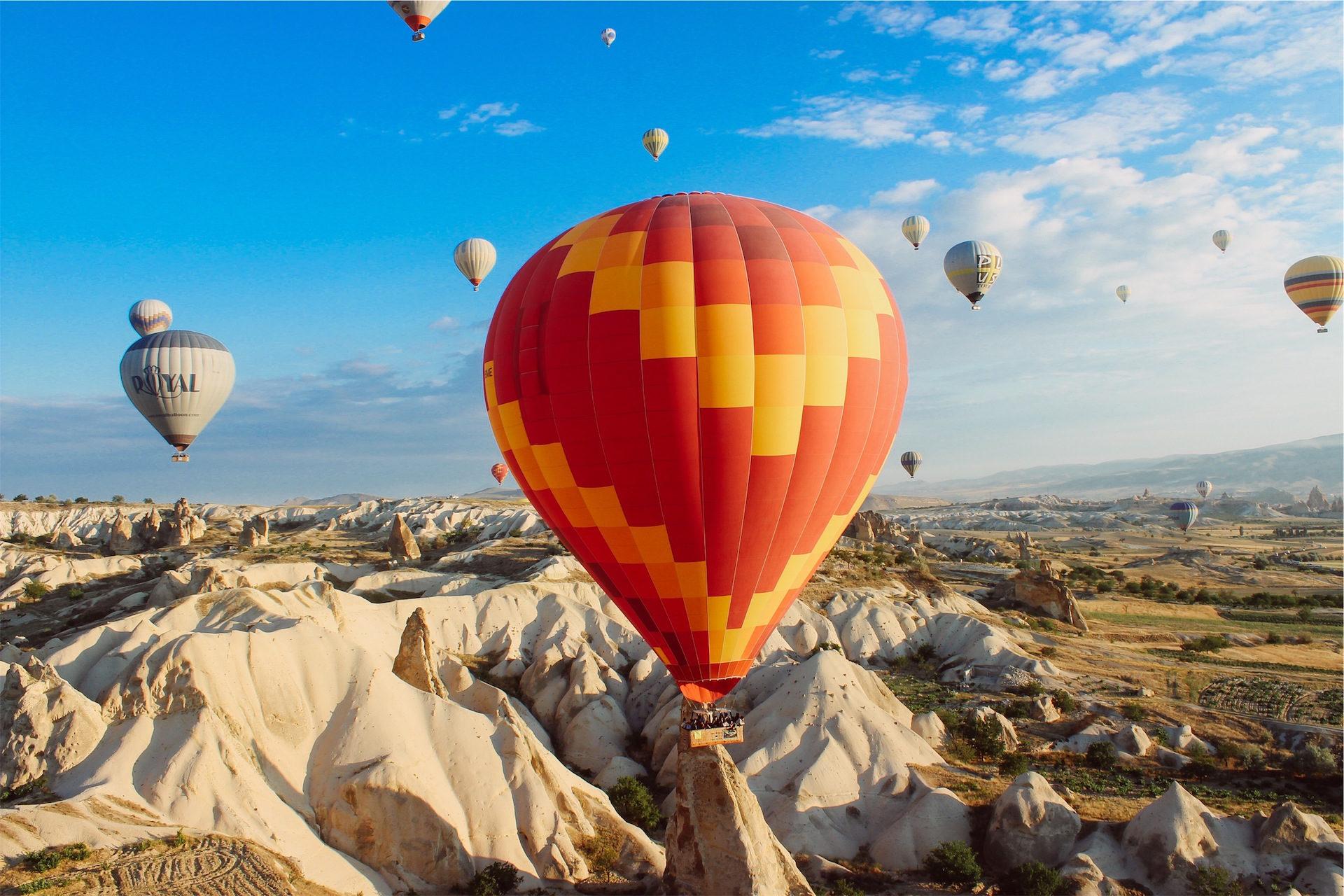 气球, 空气, 沙漠, 视图, 空中 - 高清壁纸 - 教授-falken.com