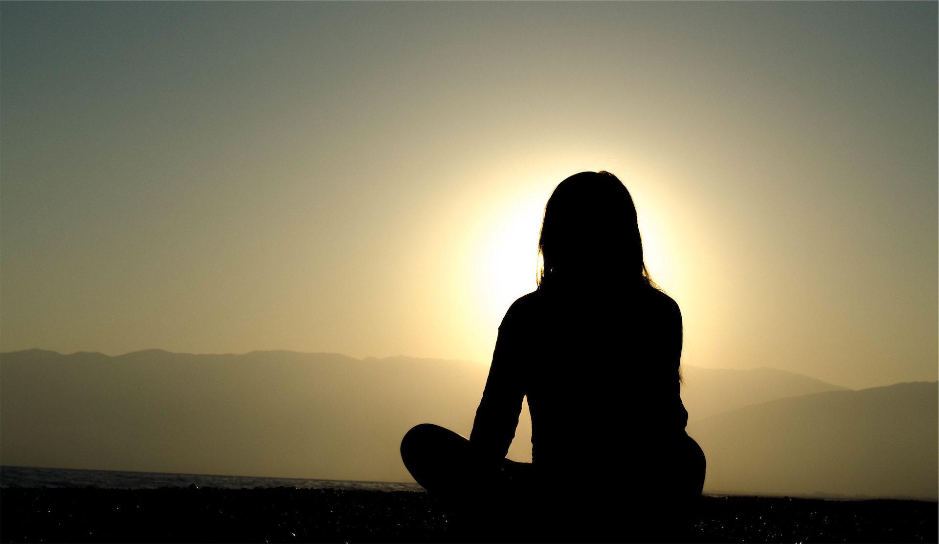 mulher, meditação, Ioga, Sol, Nirvana - Papéis de parede HD - Professor-falken.com