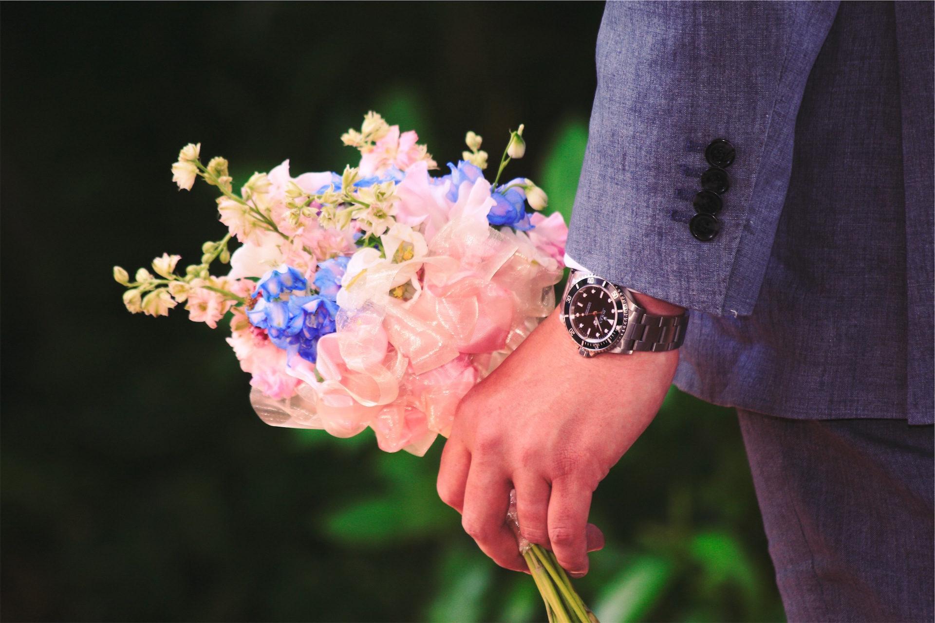 bouquet, fiori, Orologio, uomo, costume - Sfondi HD - Professor-falken.com