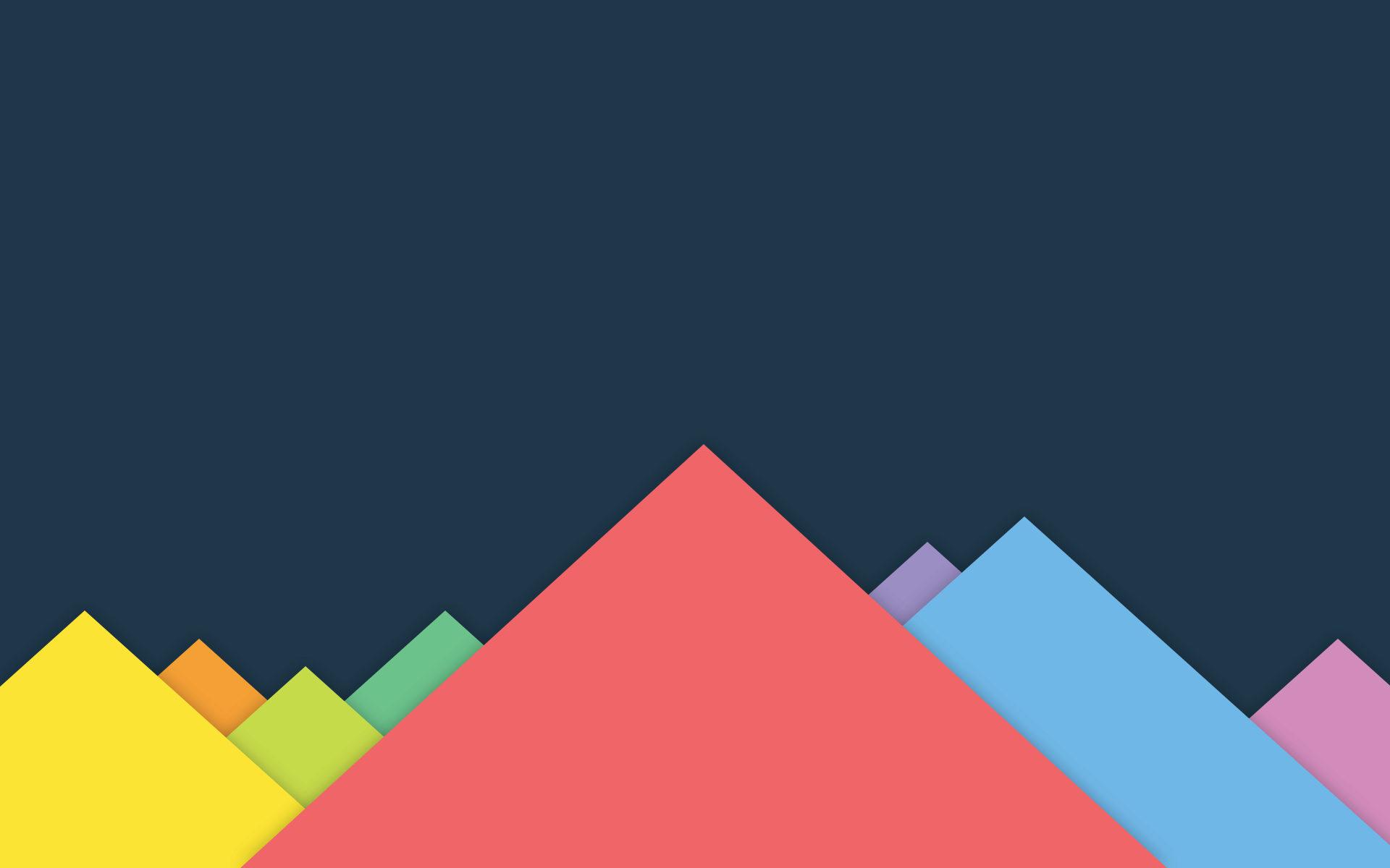 τρίγωνα, χρώματα, φόντο, βουνά, επίπεδη σχεδίαση - Wallpapers HD - Professor-falken.com