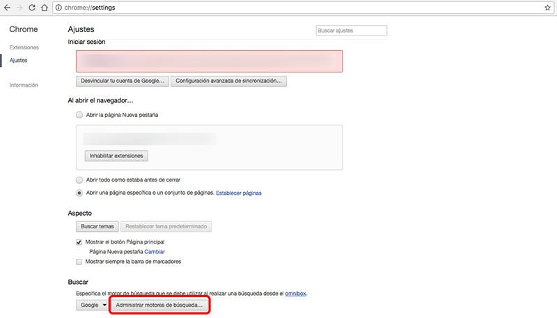 Cómo cambiar o añadir un nuevo motor de búsquedas en Chrome - Image 2 - professor-falken.com