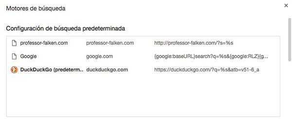 Cómo cambiar o añadir un nuevo motor de búsquedas en Chrome - Image 5 - professor-falken.com