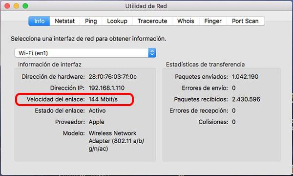 Como saber a velocidade da sua conexão Wi-Fi no macOS - Imagem 4 - Professor-falken.com