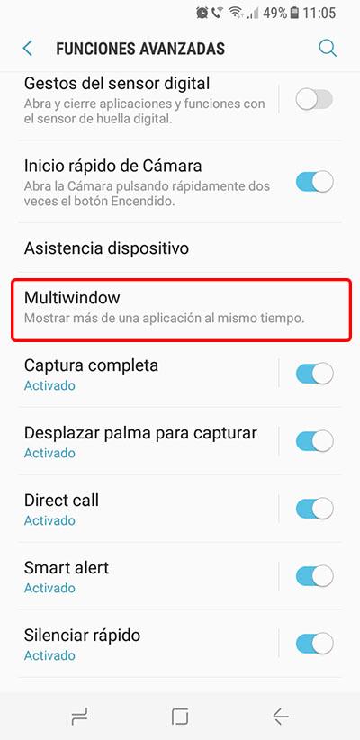 Cómo activar y usar la Multiventana en el Samsung Galaxy S8 / S8+ - Image 2 - professor-falken.com