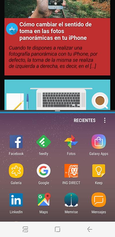 Cómo activar y usar la Multiventana en el Samsung Galaxy S8 / S8+ - Image 6 - professor-falken.com