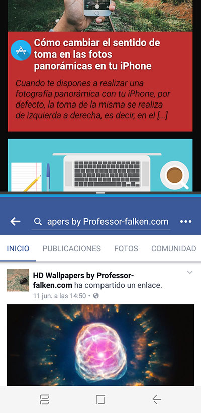 Cómo activar y usar la Multiventana en el Samsung Galaxy S8 / S8+ - Image 7 - professor-falken.com
