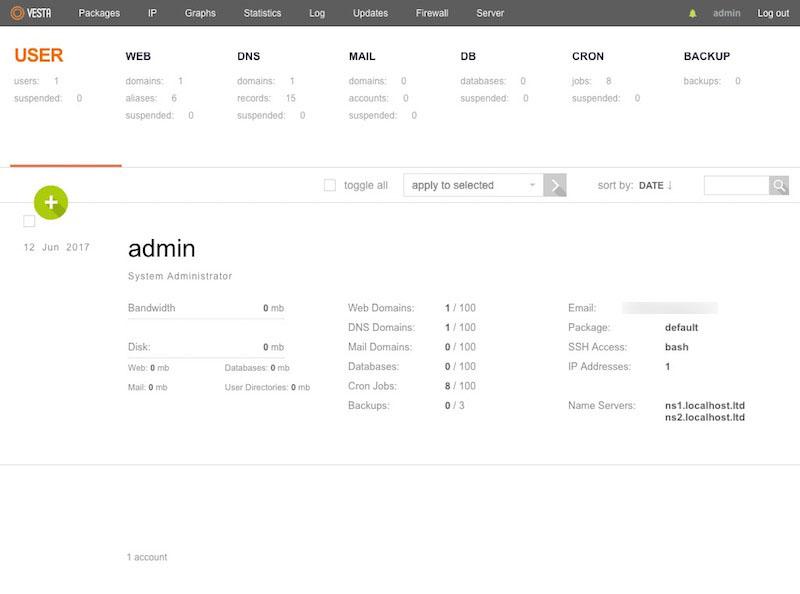 Como instalar o painel de controle, Vesta em Linux - Imagem 4 - Professor-falken.com