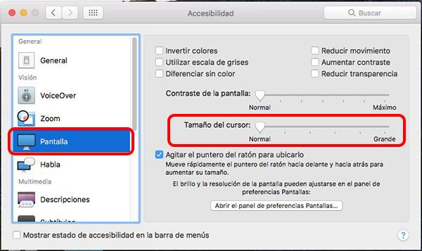 Cómo hacer más grande, o pequeño, el puntero del ratón en tu Mac - Image 2 - professor-falken.com