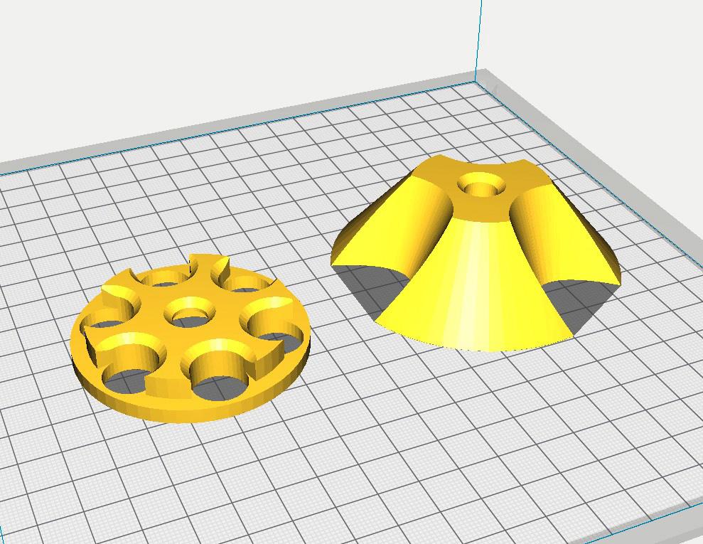Portacarretes, o adaptador para los carretes, de filamento - professor-falken.com